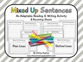Mixed Up Sentences {Freebie}