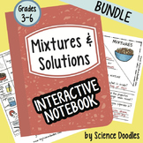 Mixtures and Solutions Interactive Notebook BUNDLE by Scie