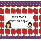 Mizz Mac's Print An Apple for Johnny Appleseed