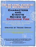 Mockingjay Pre-Reading Character Review Activity