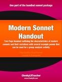 Modern Sonnet Handout
