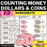Money Worksheets 2nd Grade Math Dollars Coins No Prep Comm