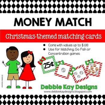 Money Match Sorting Cards - Christmas Theme