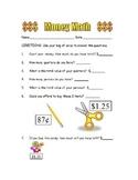 Money Math Sheet