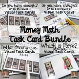 Money Math Task Card Bundle (special education)