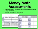 Money Skills Assessment for ABA, Autism, or Early Elementa