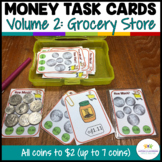 Money Task Cards 2--Groceries (Special Education-Coins to $2)