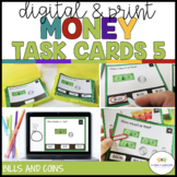 Money Task Cards 5: Fast Food (Coin and Bill Combos) {Auti