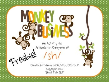 Monkey Business: An Articulation Carryover Activity for /SH/