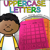 Capital Letters - Trace, Stamp, Write, Paste