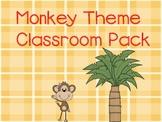 Monkey Theme Classroom Packet