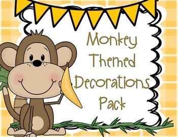 Monkey Theme or Jungle Theme Classroom Decorations Super P