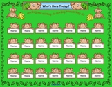 Monkey Themed SmartBoard Attendance/Check-In