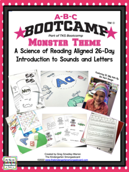 Monster ABC BOOTCAMP! An Editable 26 Day Introduction To Letters And Sounds!