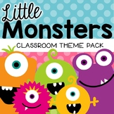 Monster Classroom Decor Theme Pack {Editable}