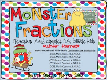 Four Fraction Math Centers Task Cards {CCSS 4.NF Equivalen
