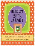 Monster Glyph Activity (Halloween Math & Language Arts Poetry)