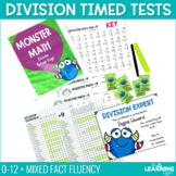 Monster Math - Division Timed Tests