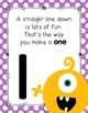 Number Formation Poems {Monster theme}