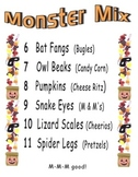 Monster Mix Halloween Math Snack