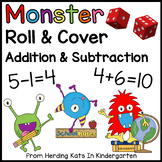 Monster Roll & Cover Addition & Subtraction Games!