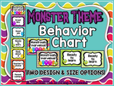 Monster Theme Behavior Clip Chart ~ 2 Design Choices