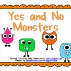 Monster Themed Yes No Question Cards