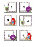 Monster calendar cards