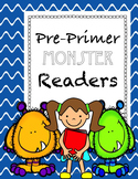 Monster themed Pre-primer readers with flashcards