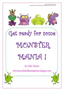Alphabet- Monster themed letter pack