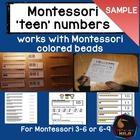 Montessori Teen numbers SAMPLE