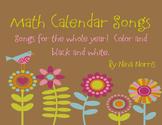 Monthly Calendar Songs for Calendar Binder