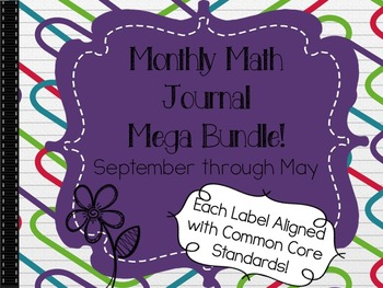Math Journal Labels for the entire year (180 Labels)! Core Aligned to First Grade Standards