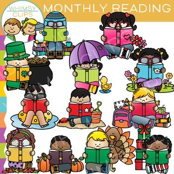 Monthly Readers Clip Art