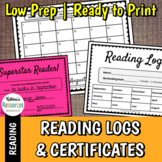 Monthly Reading Logs (Elementary)