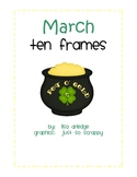 Monthly Ten Frames--March pot of gold
