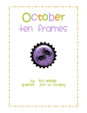 Monthly Ten Frames--October spiders