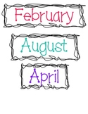 Months of the Year by Miss Sharp