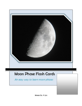 Moon Phase Flash Cards