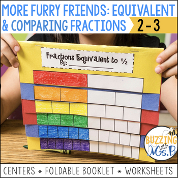 More Furry Friends Fractions Pack: Equivalent and Comparing Fractions