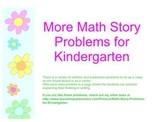 More Math Story Problems for Kindergarten