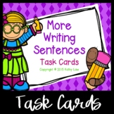 More Writing Sentences Task Cards