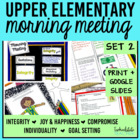 Morning Meeting Made Easy Set 2 (theme-based)