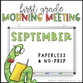 Morning Meeting Messages - September