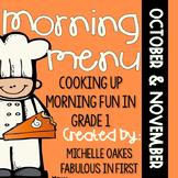 Morning Work: Morning Menu for Oct. and Nov.