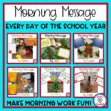 Morning Messages All Year 1st, 2nd, 3rd, 4th Grade Reading