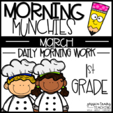 Morning Munchies {1st grade Morning Work - March}