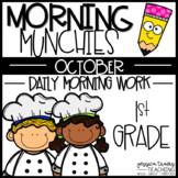 Morning Munchies {1st grade Morning Work - October}