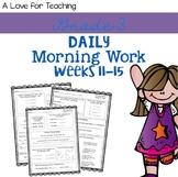 Morning Work Weeks 11-15 {Editable}