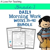 Morning Work Weeks 21-40 Bundle